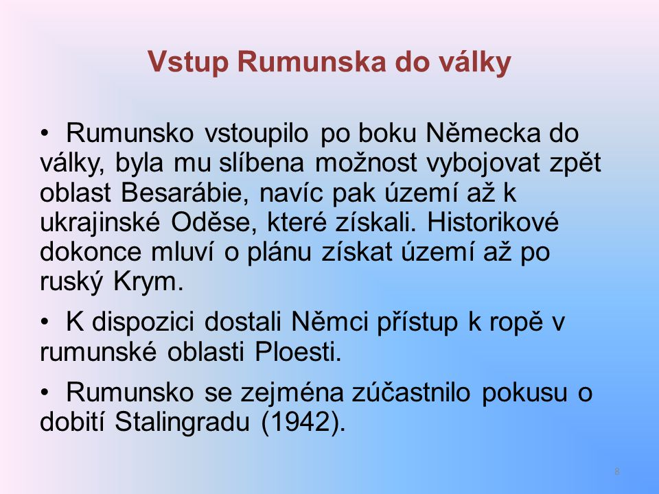 Vstup Rumunska do války