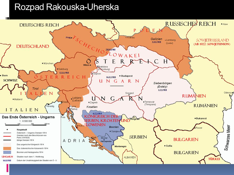 Rozpad Rakouska-Uherska