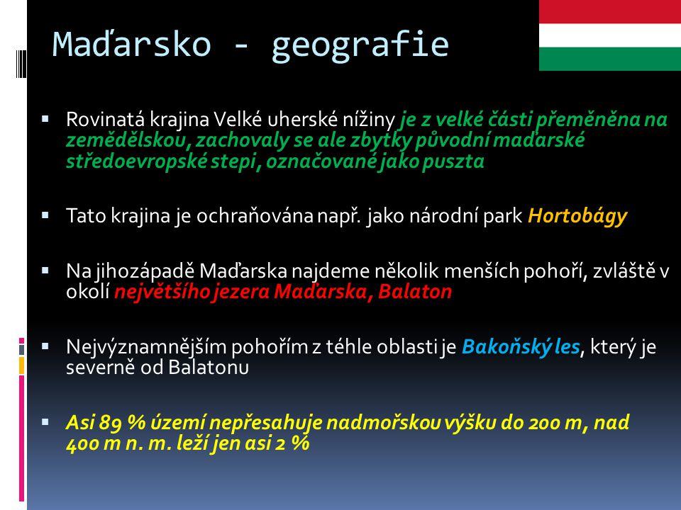 Maďarsko - geografie