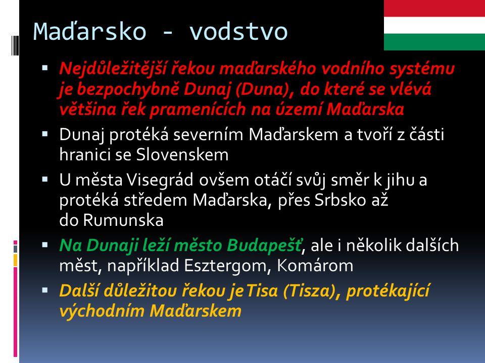 Maďarsko - vodstvo