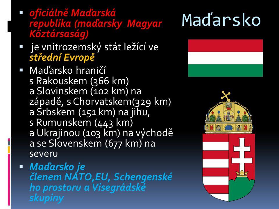Maďarsko oficiálně Maďarská republika (maďarsky Magyar Köztársaság)