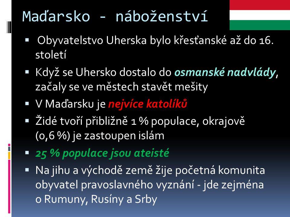 Maďarsko - náboženství