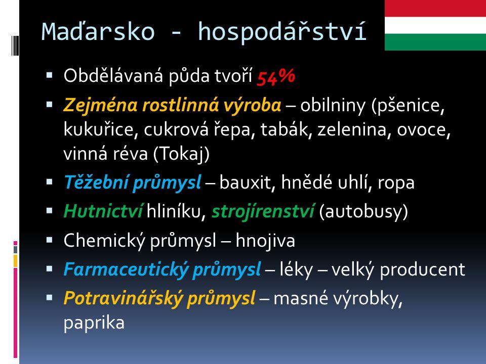 Maďarsko - hospodářství