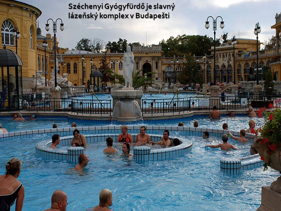 Széchenyi Gyógyfürdő je slavný lázeňský komplex v Budapešti