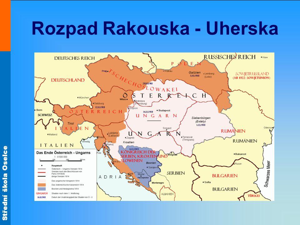 Rozpad Rakouska - Uherska