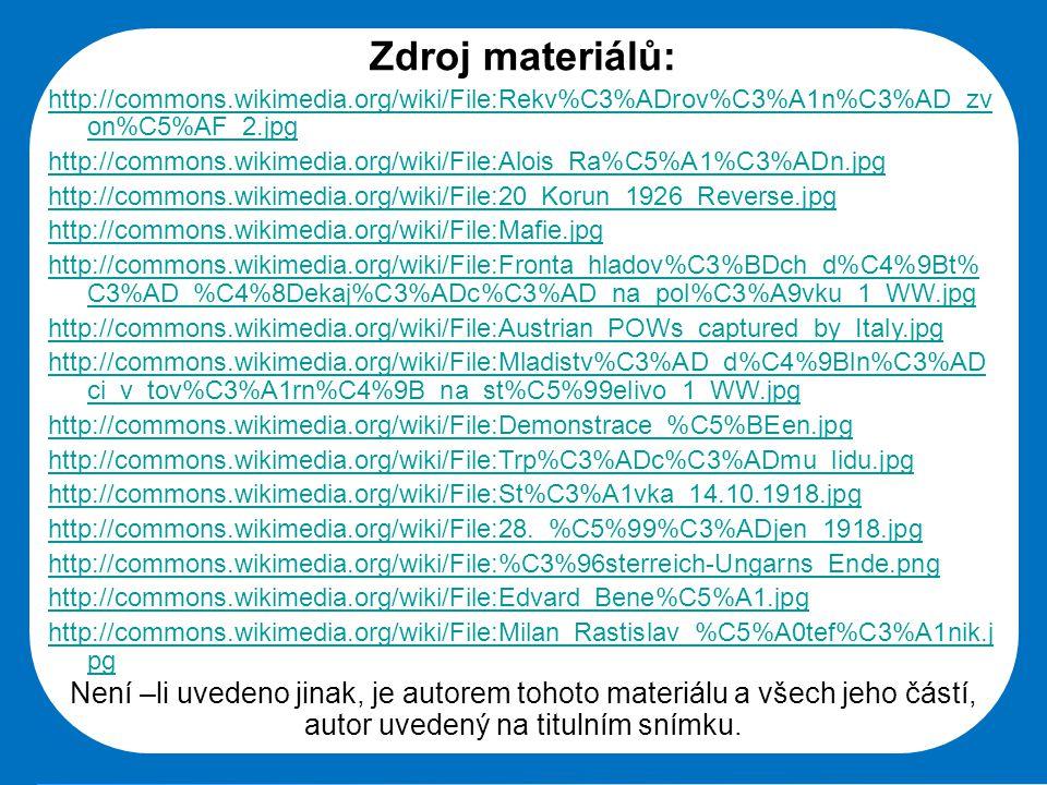 Zdroj materiálů: http://commons.wikimedia.org/wiki/File:Rekv%C3%ADrov%C3%A1n%C3%AD_zvon%C5%AF_2.jpg.