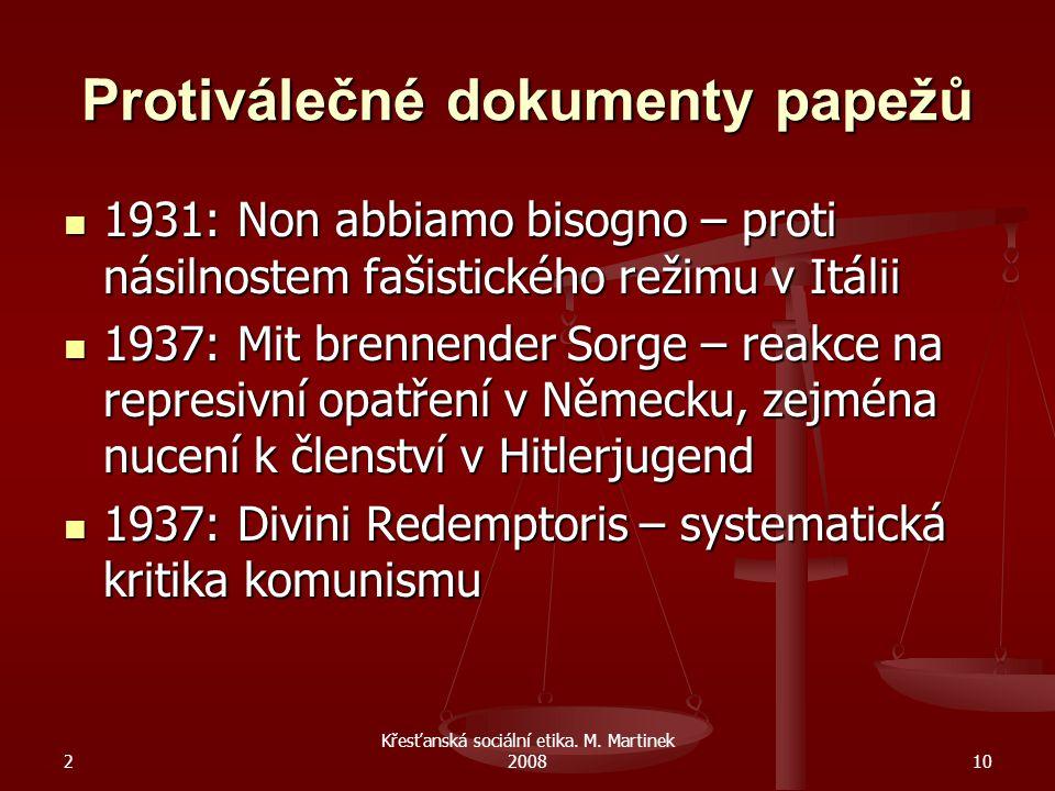 Protiválečné dokumenty papežů