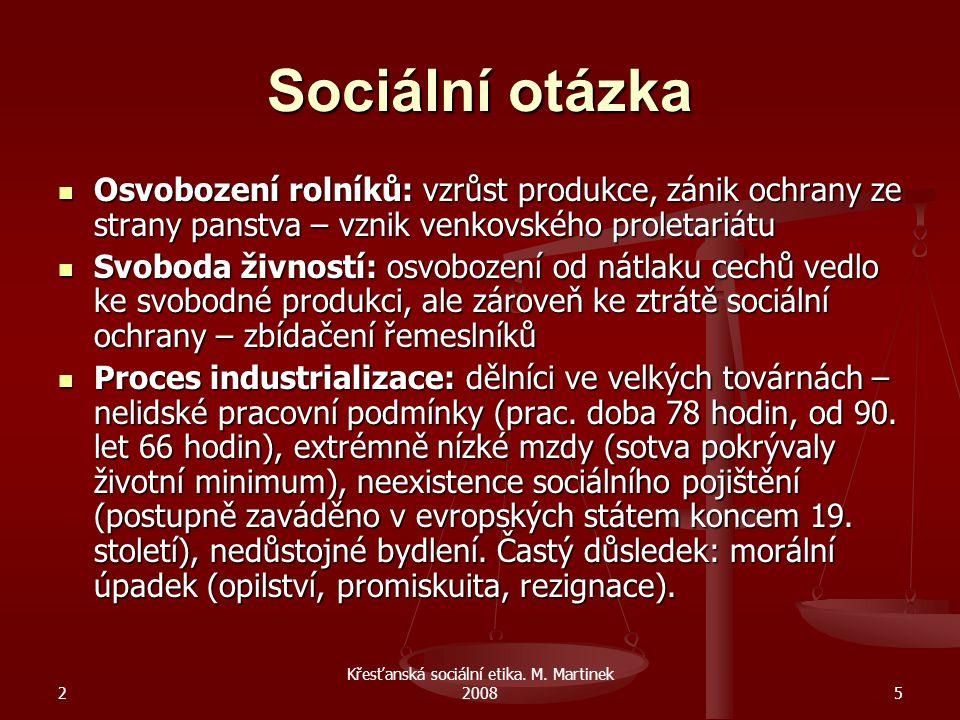 Křesťanská sociální etika. M. Martinek 2008