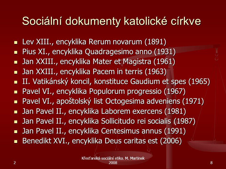 Sociální dokumenty katolické církve