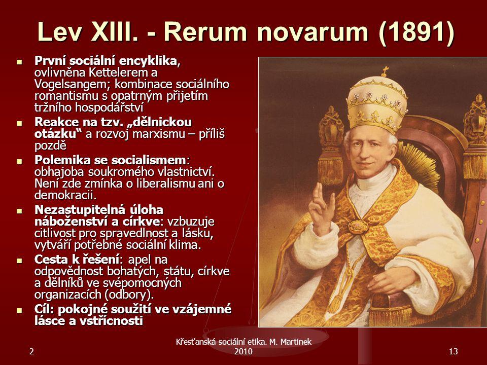 Lev XIII. - Rerum novarum (1891)