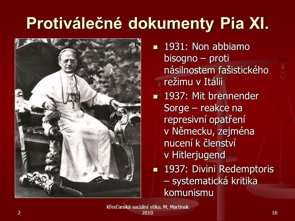 Protiválečné dokumenty Pia XI.