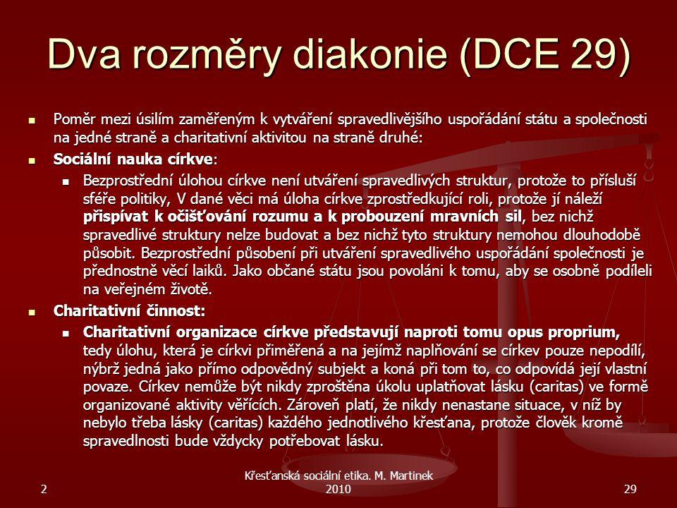 Dva rozměry diakonie (DCE 29)