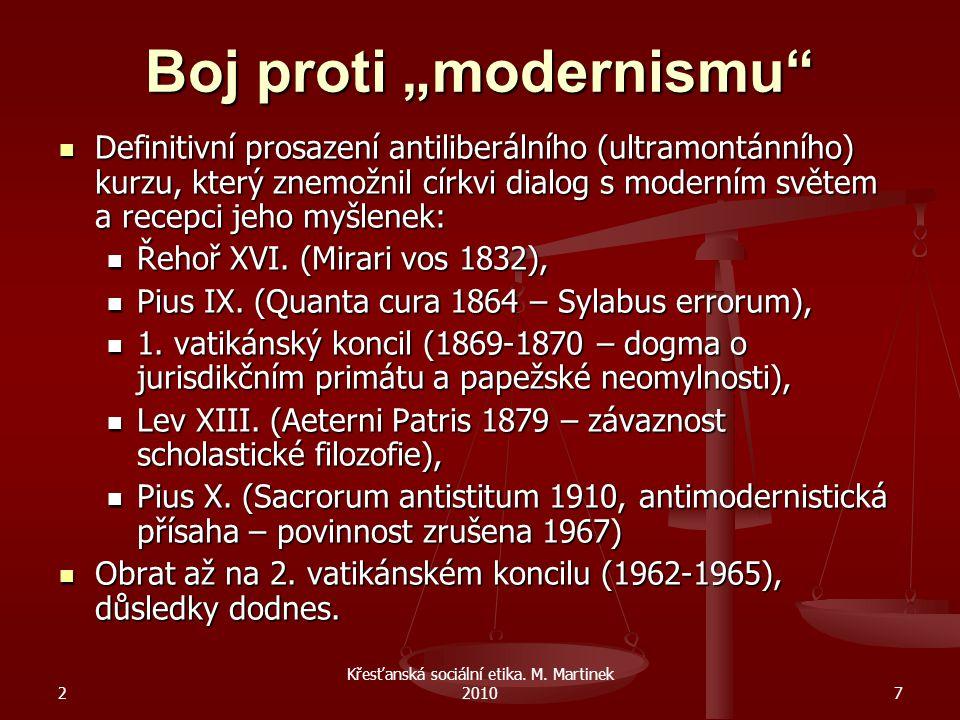 """Boj proti """"modernismu"""