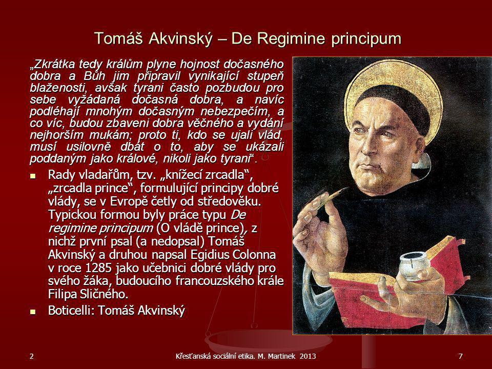 Tomáš Akvinský – De Regimine principum