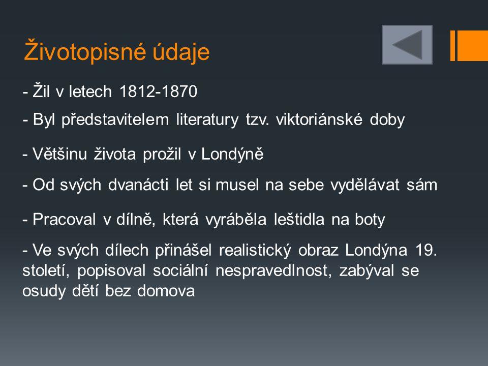 Životopisné údaje - Žil v letech 1812-1870