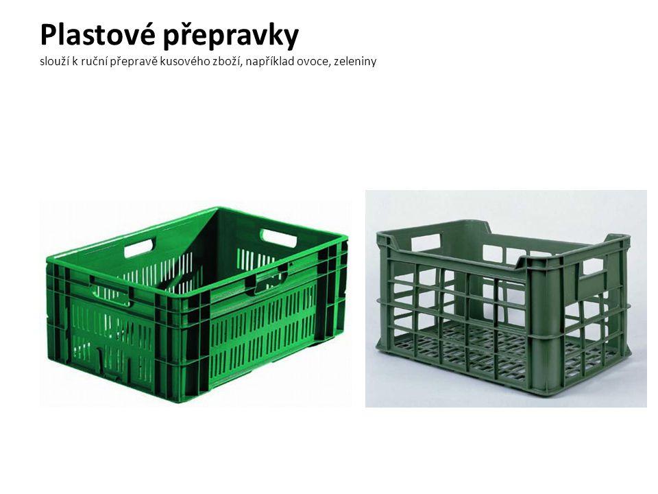 Plastové přepravky slouží k ruční přepravě kusového zboží, například ovoce, zeleniny