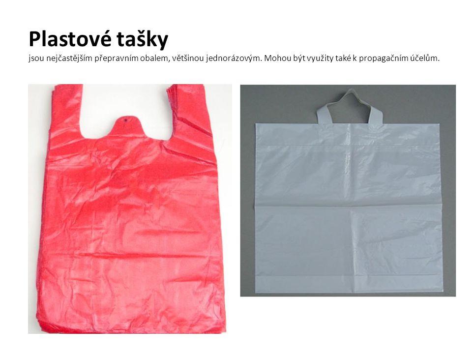 Plastové tašky jsou nejčastějším přepravním obalem, většinou jednorázovým.