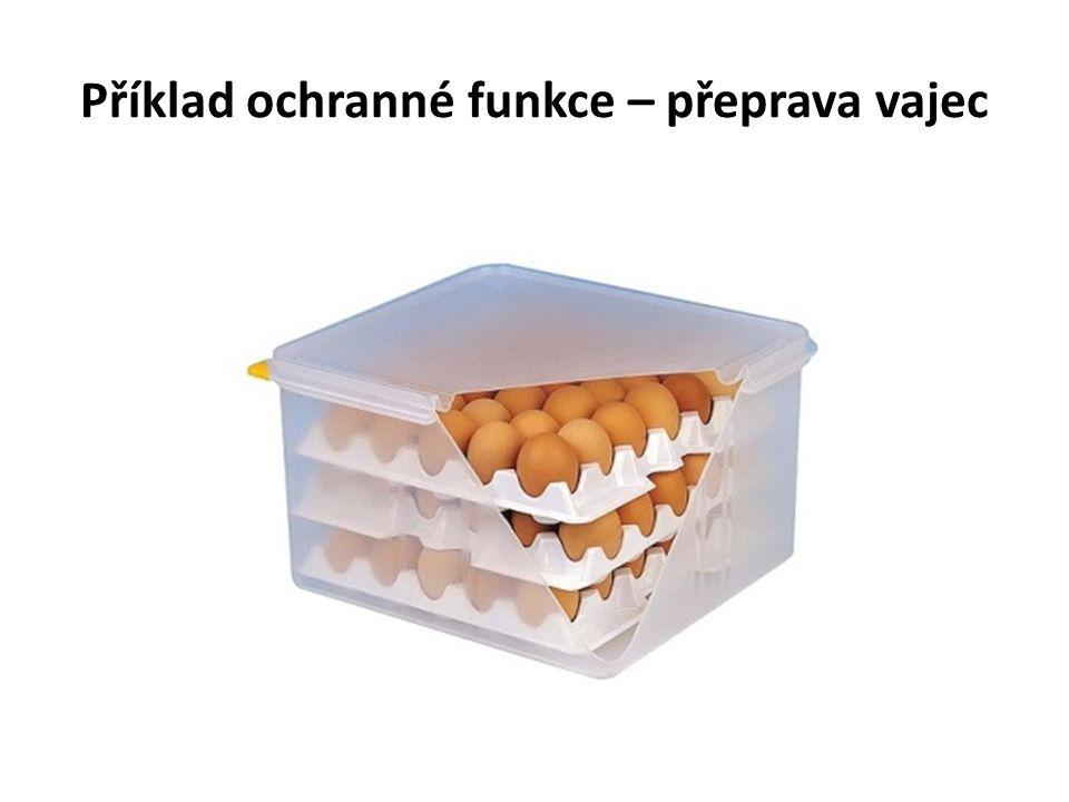 Příklad ochranné funkce – přeprava vajec
