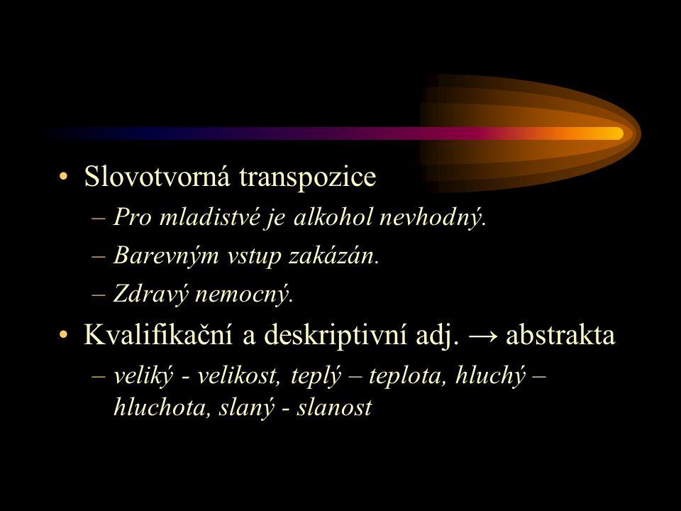 Slovotvorná transpozice