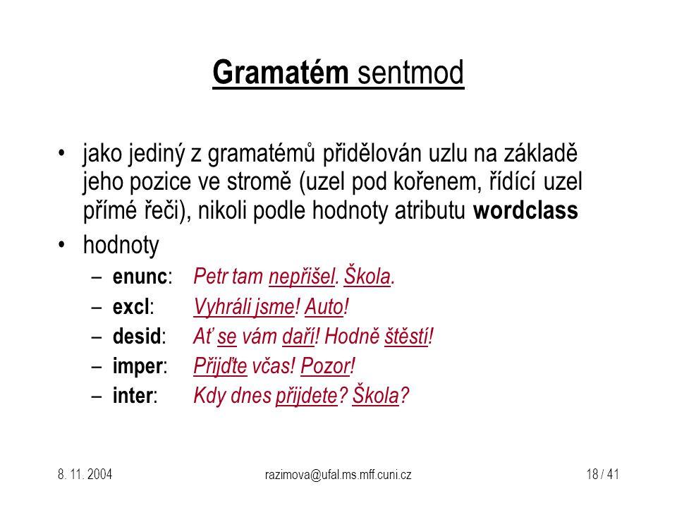Gramatém sentmod