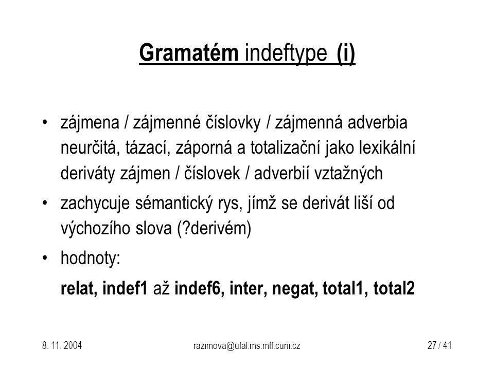 Gramatém indeftype (i)