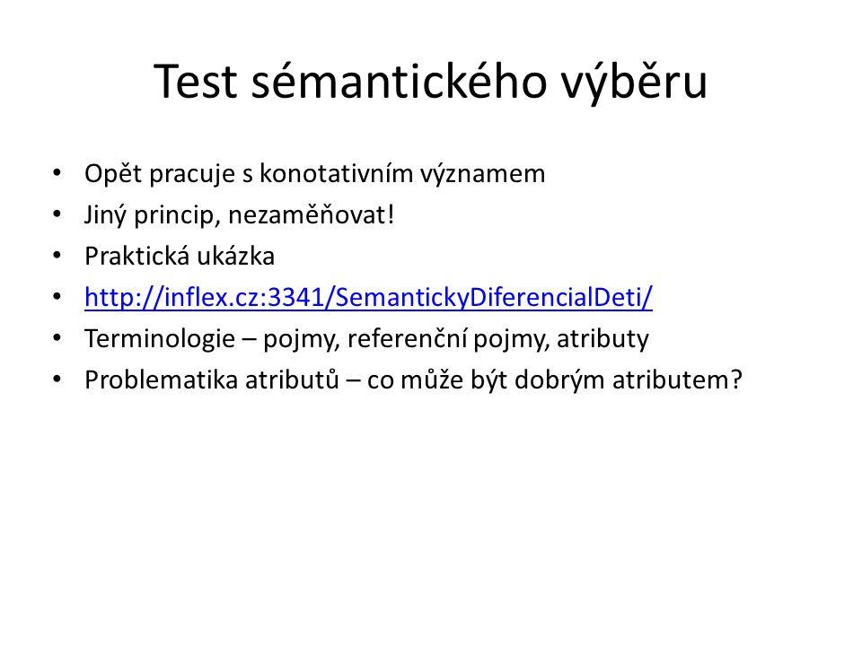 Test sémantického výběru