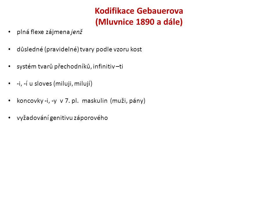 Kodifikace Gebauerova