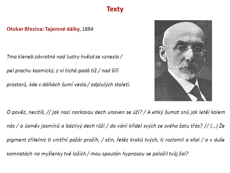 Texty Otokar Březina: Tajemné dálky, 1894