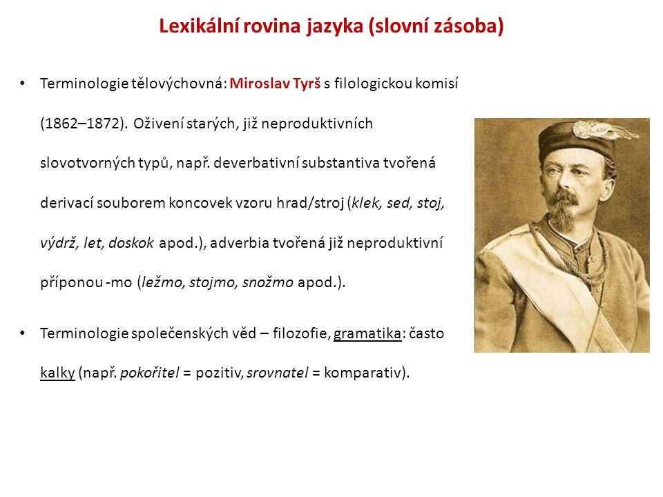 Lexikální rovina jazyka (slovní zásoba)
