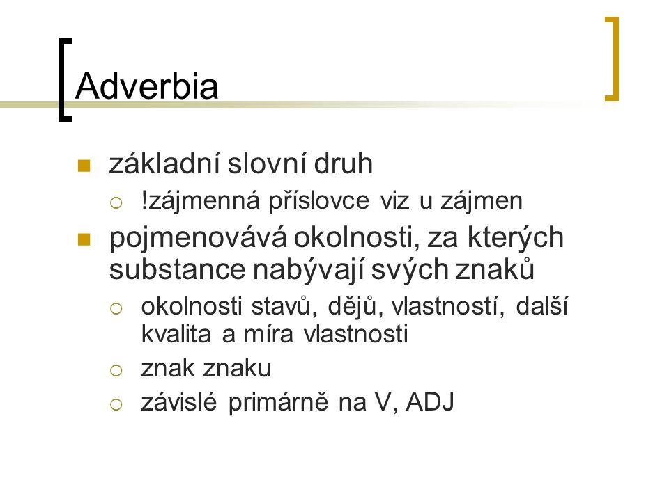 Adverbia základní slovní druh