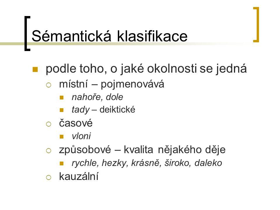 Sémantická klasifikace