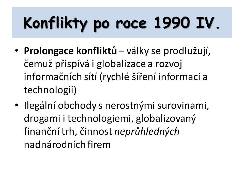 Konflikty po roce 1990 IV.
