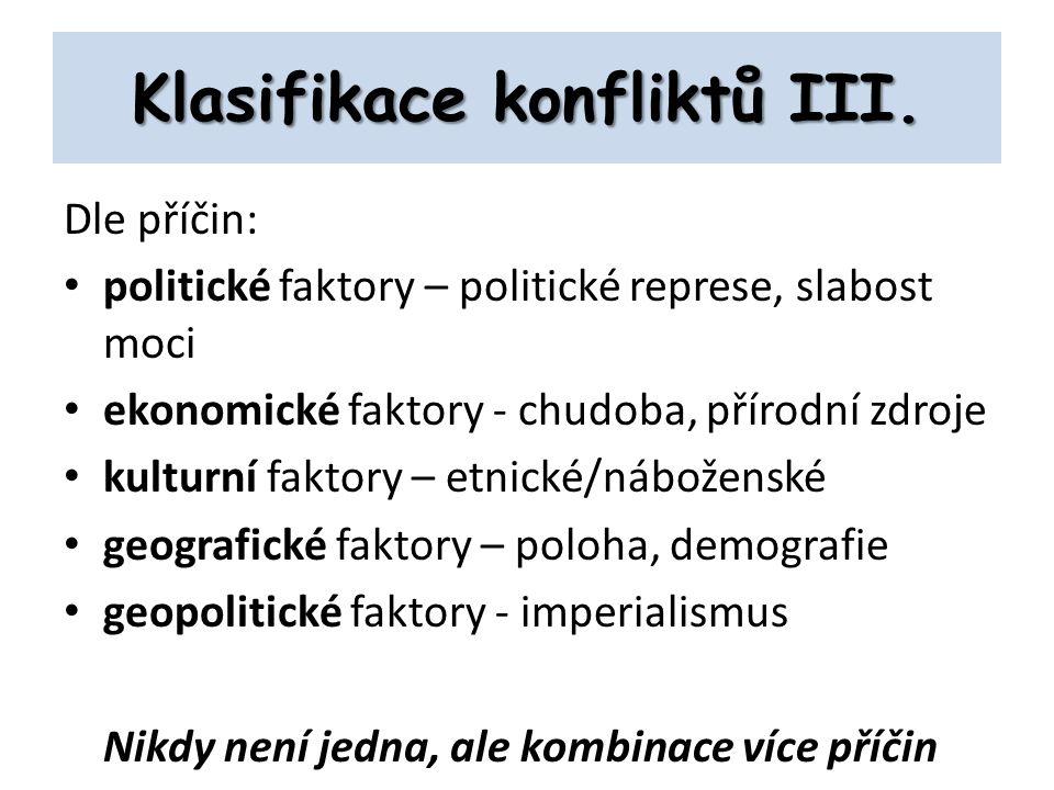 Klasifikace konfliktů III.