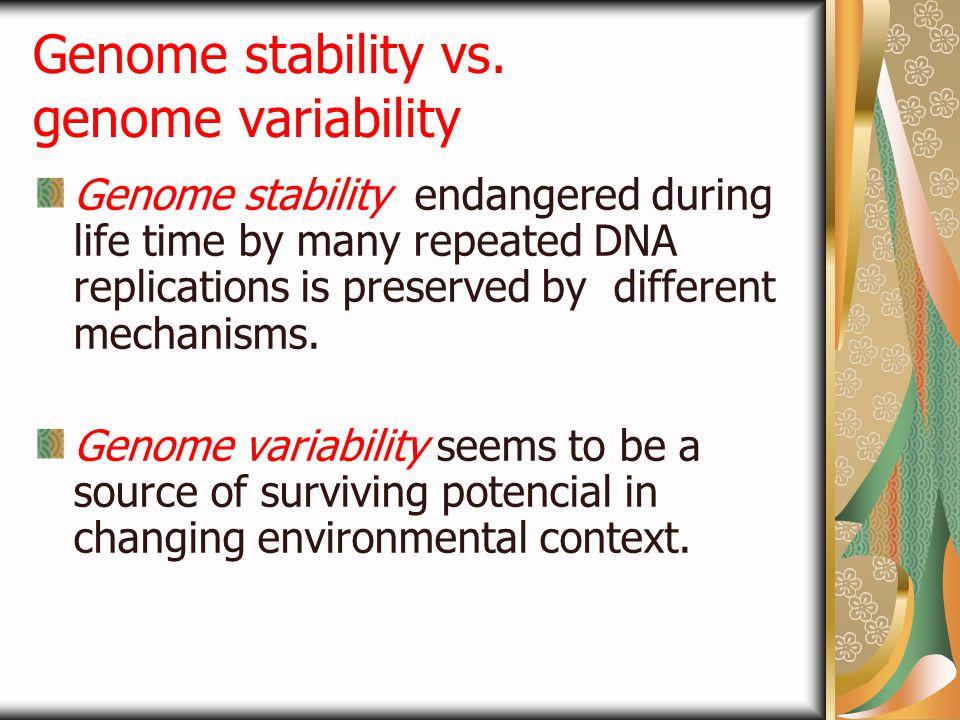 Genome stability vs. genome variability