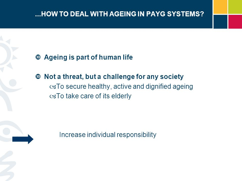 ...HOW TO DEAL WITH AGEING IN PAYG SYSTEMS