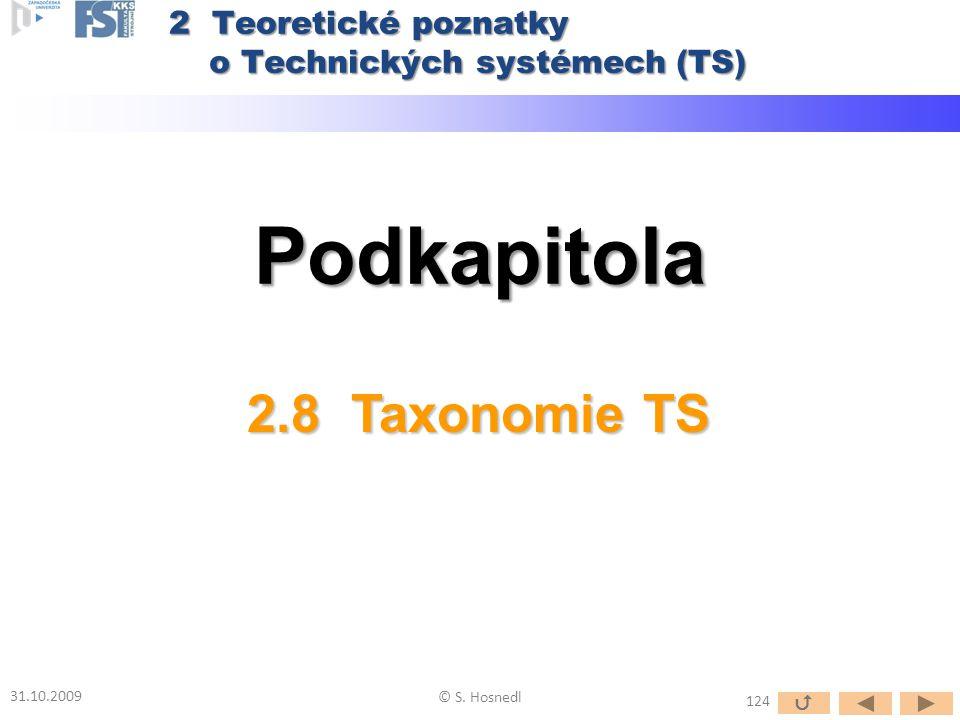 Podkapitola 2.8 Taxonomie TS 2 Teoretické poznatky