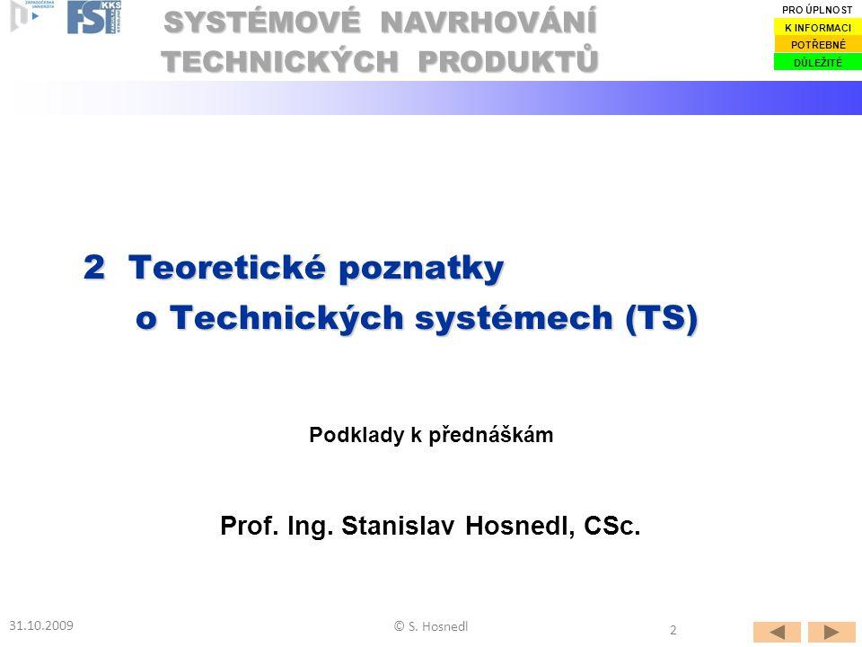2 Teoretické poznatky o Technických systémech (TS)