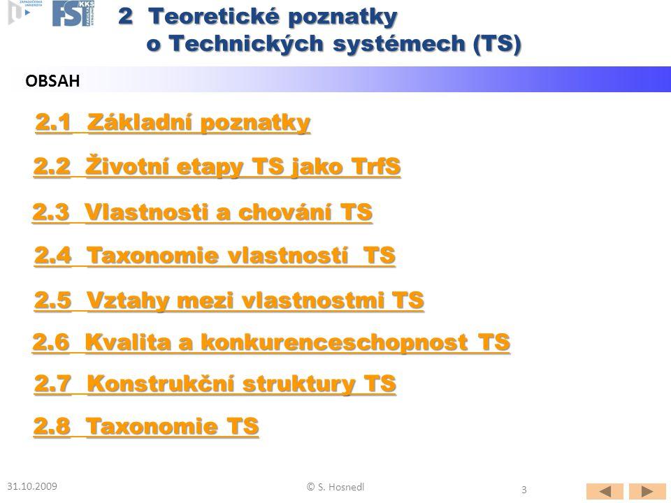 o Technických systémech (TS)