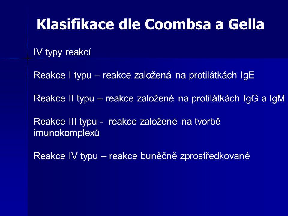 Klasifikace dle Coombsa a Gella