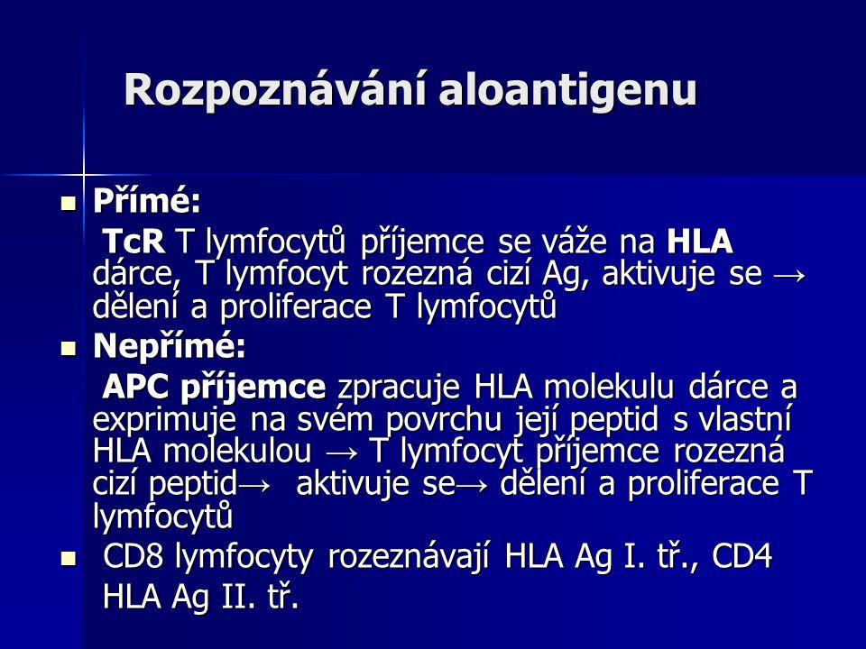 Rozpoznávání aloantigenu