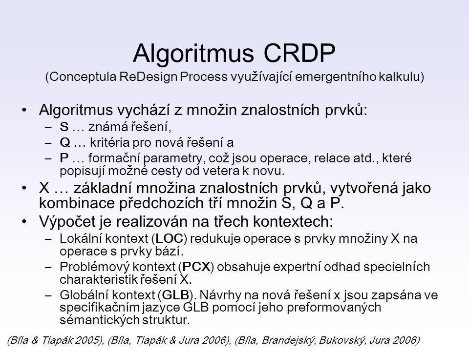 Algoritmus CRDP (Conceptula ReDesign Process využívající emergentního kalkulu)