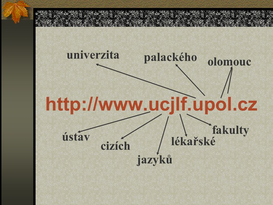 http://www.ucjlf.upol.cz univerzita palackého olomouc fakulty ústav