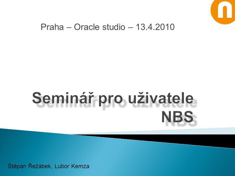 Seminář pro uživatele NBS