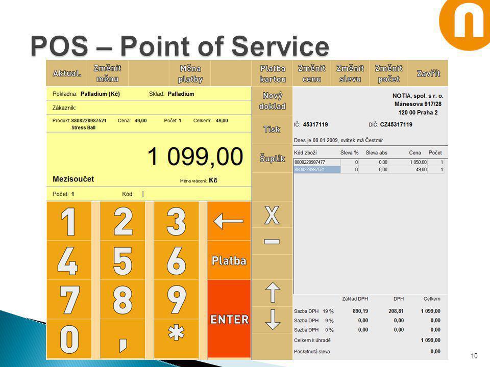 POS – Point of Service Notia Informační systémy, spol. s r. o.