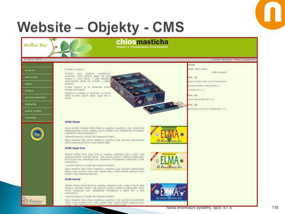 Website – Objekty - CMS Notia Informační systémy, spol. s r. o.