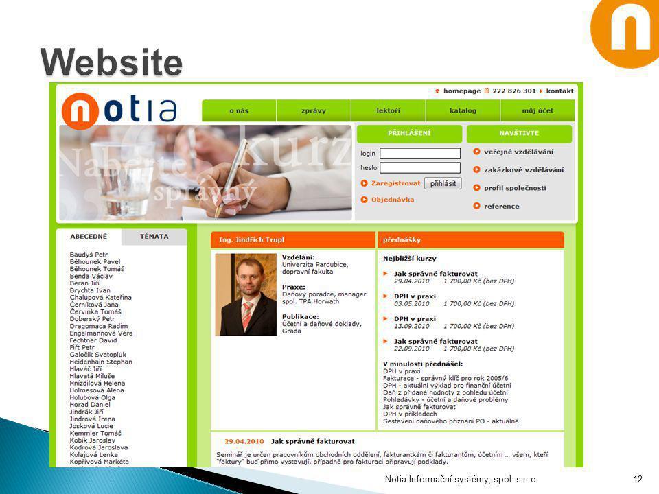 5.4.2017 Website Notia Informační systémy, spol. s r. o.
