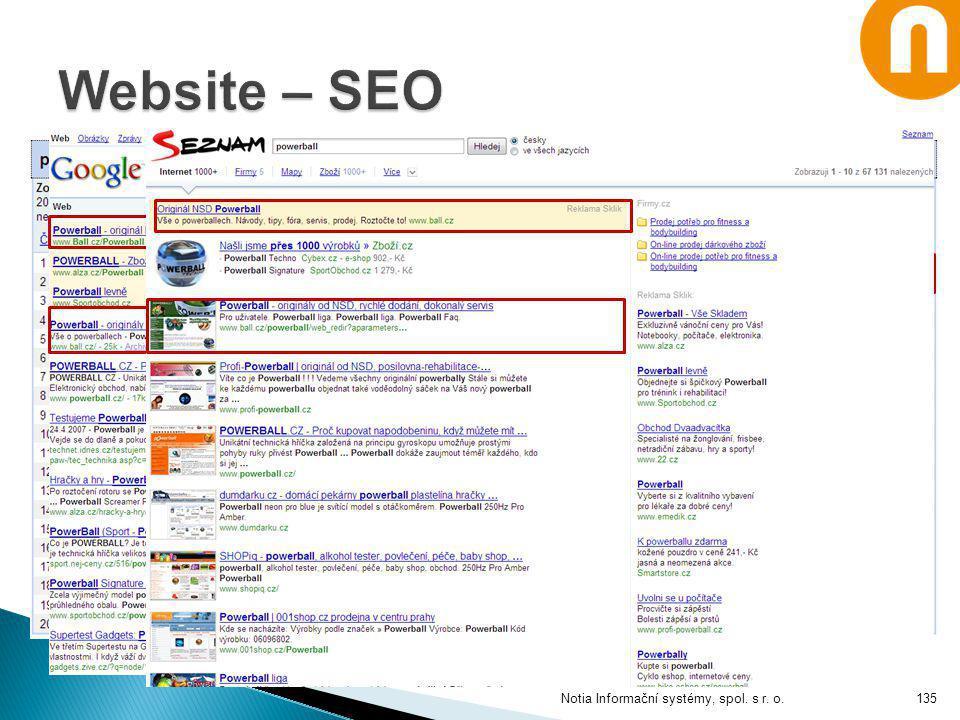 Website – SEO Notia Informační systémy, spol. s r. o.