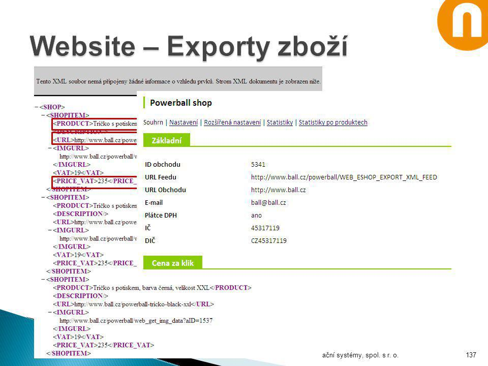 Website – Exporty zboží