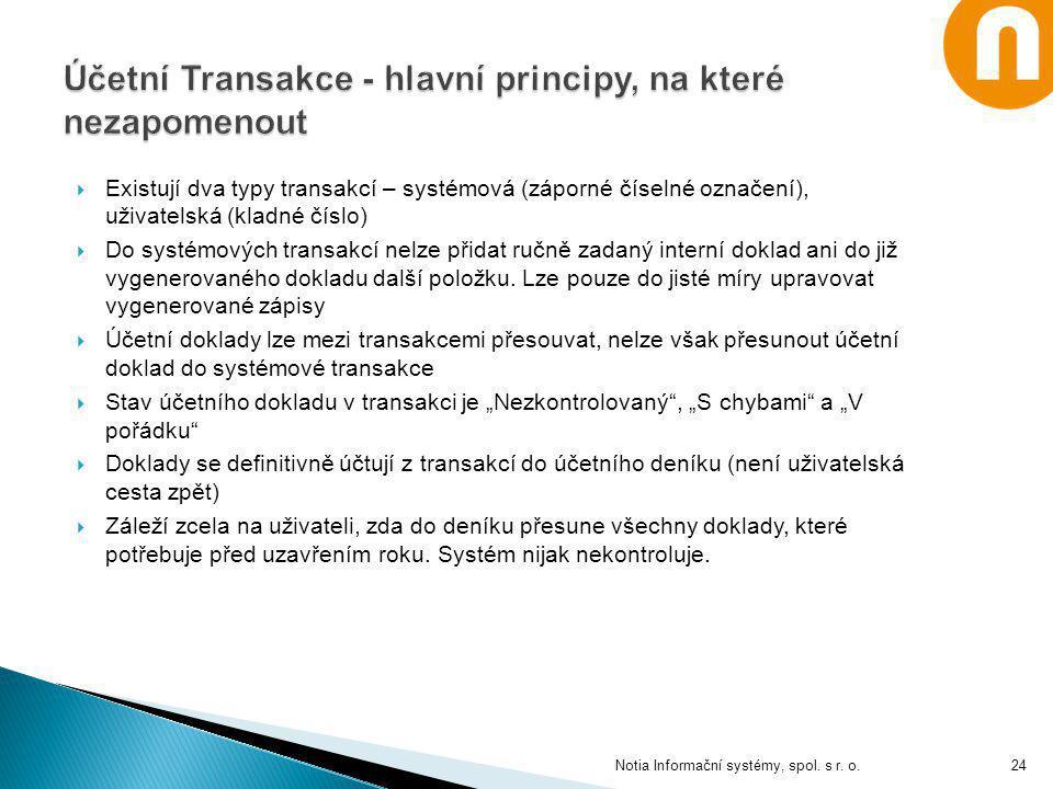Účetní Transakce - hlavní principy, na které nezapomenout