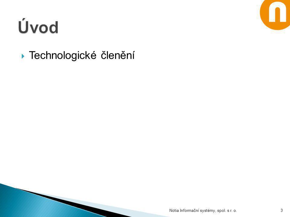 Úvod Technologické členění Notia Informační systémy, spol. s r. o.